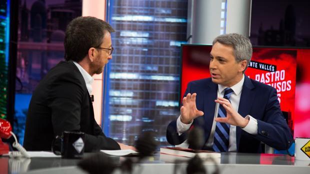 Vicente Vallés y Pablo Motos, en «El hormiguero»