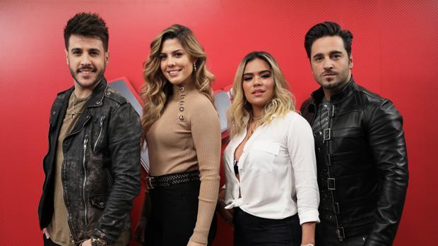 Antonio José, Miriam Rodríguez, Karol G y David Bustamante son los nuevos asesores de «La Voz»