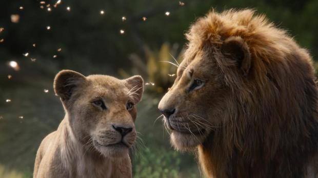 Nala y Simba en «El rey león»