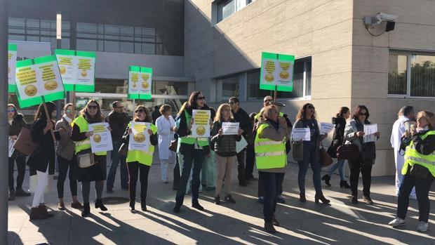 Los trabajadores del Hospital de Utrera ya han protagonizado varias manifestaciones para mostrar su malestar