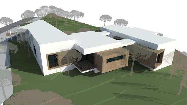 Imagen virtual del proyecto de tanatorio que el Ayuntamiento de Lebrija quiere construir junto a la ermita de San Benito
