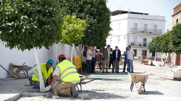 Una de las obras beneficiadas con el Plan Supera puesto en marcha por la Diputación de Sevilla