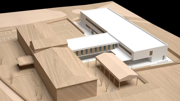 Recreación del instituto Lauretum una vez ampliadas sus instalaciones