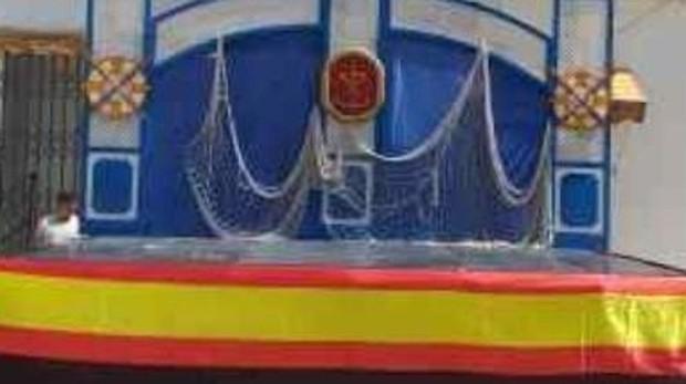 La bandera de España fue retirada del escenario de la Velá