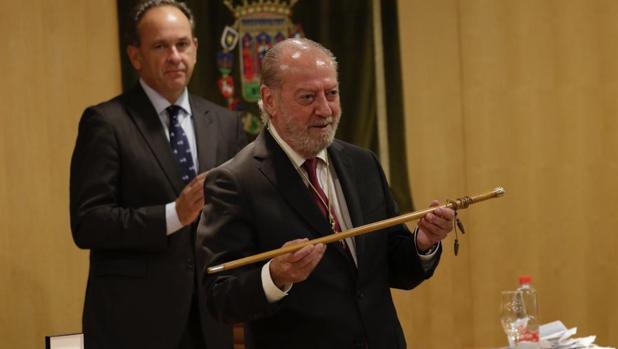 Fernando Rodríguez Villalobos durante el acto de constitución de la Diputación de Sevilla