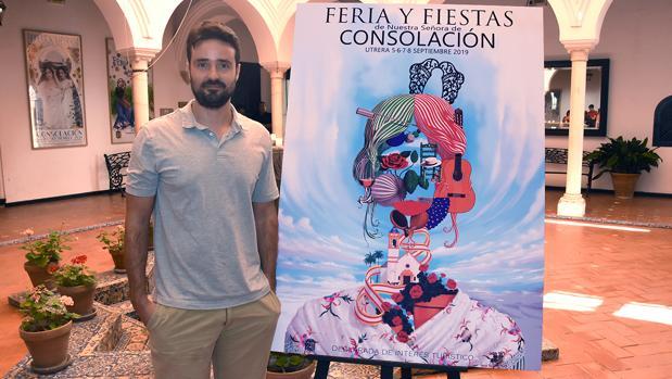 Una pintura digital de Jesús Vázquez, cartel de la Feria de Consolación de Utrera