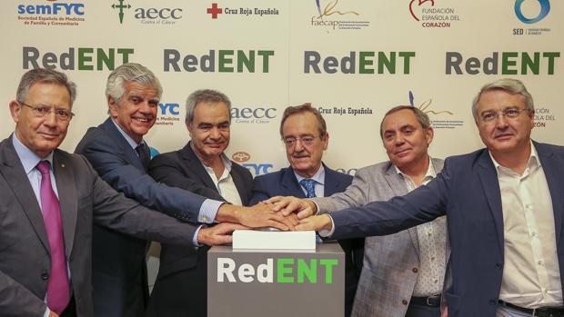 Representantes de RedENT durante el lanzamiento de la plataforma