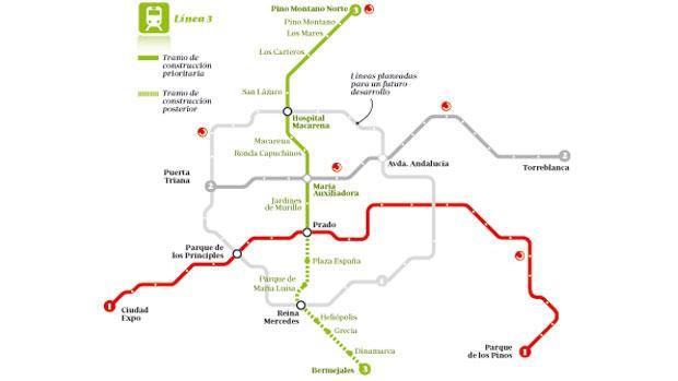 Por Donde Pasa La Linea 3 Del Metro De Sevilla