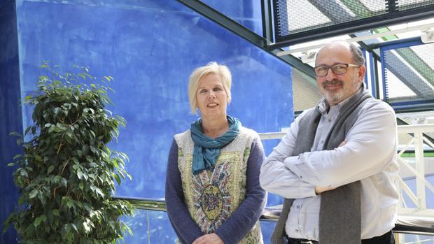 Evelyn Huizing, enfermera y experta en suicidios, y José Carmona, psiquiatra y director del Plan Integral de Salud Mental de la Junta de Andalucía