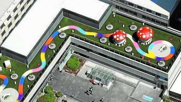 Vista aérea de cómo ha quedado la instalación infantil del Hospital Universitario La Paz de Madrid