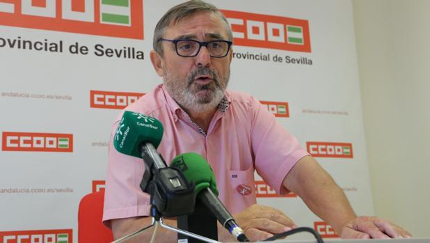 Alfonso Vidán, secretario general de CC.OO en Sevilla