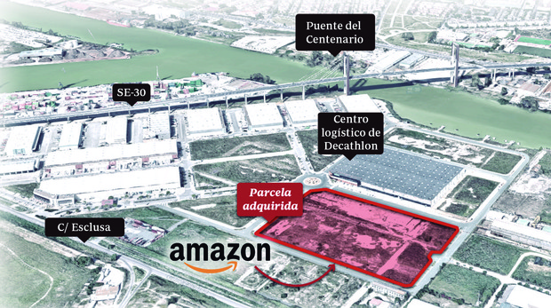 Ubicación del futuro centro logístico de Amazon en Sevilla