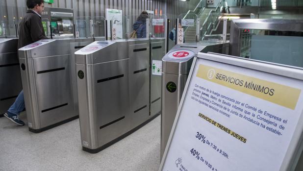 Huelga de Metro de Sevilla con servicion minimos