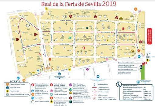Plano De La Feria De Abril De Sevilla 2019 Todas Las Calles