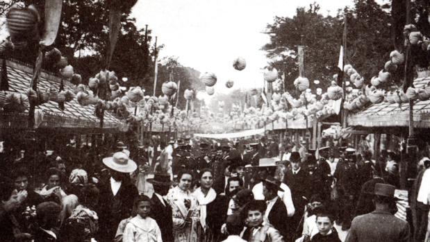 Vista de una calle de la Feria a finales del siglo XIX