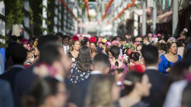 Una calle del real de la Feria el pasado miércoles