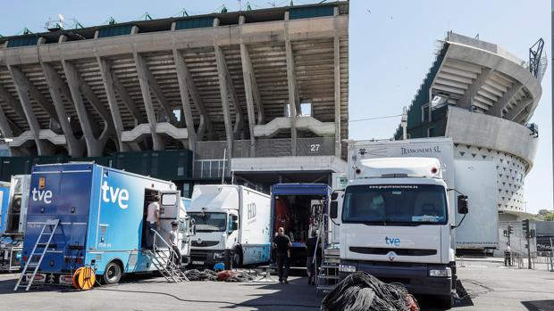 El entorno del Benito Villamarín en la previa de la final de Copa