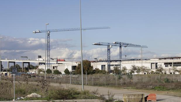 Obras del centro comercial ubicado en Palmas Altas