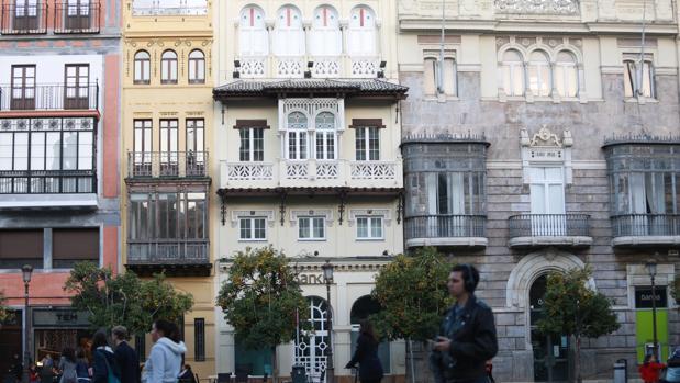 Los dos edificios que se convertirán en hotel