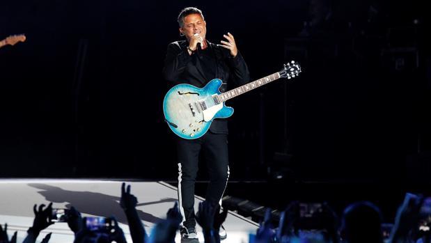 El cantante Alejandro Sanz, en el Wanda Metropolitano