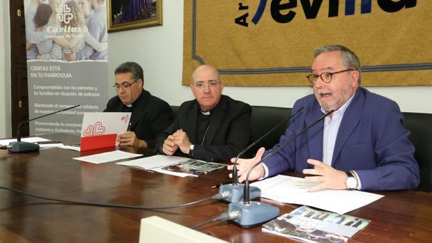 Presentación del informe anual de Cáritas en Sevilla