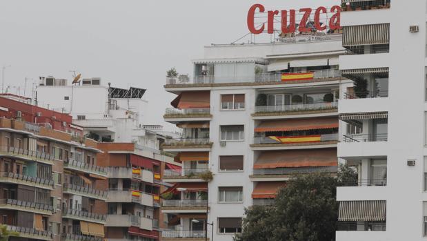 Pisos de la plaza de Cuba, en el barrio de Los Remedios
