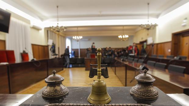 Una sala de juicios