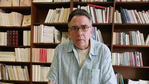 El editor y librero José Manuel Padilla posa para una entrevista a ABC realizada hace unos años