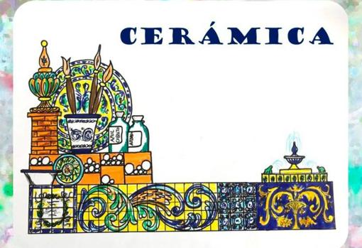 Carroza homenaje a la cerámica en Triana