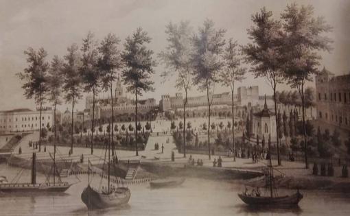 El Paseo del Cristina en 1833, tras la reforma de Arjona