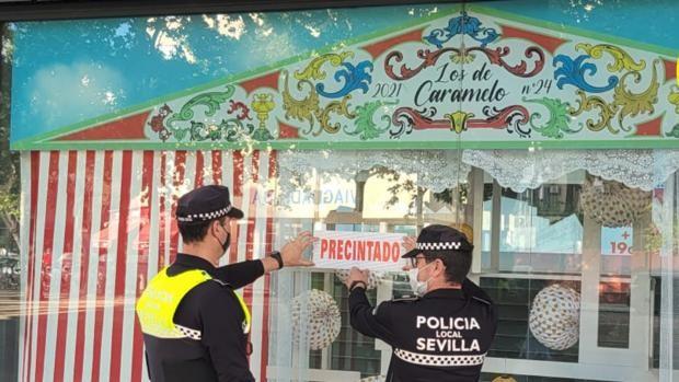 La Policía Local de Sevilla precinta un establecimiento el 'sábado del pescaíto' por venta de alcohol a menores
