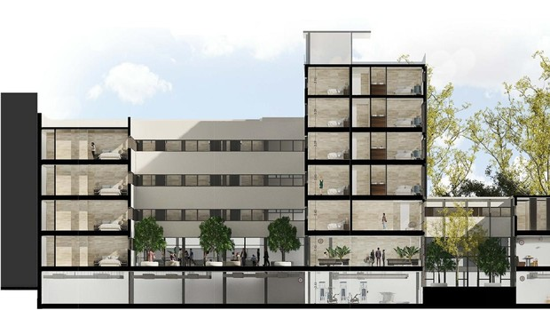 Hotel de la Gavidia: cinco plantas, 105 habitaciones y un restaurante