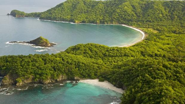 Vista aérea de las playas de Guanacaste
