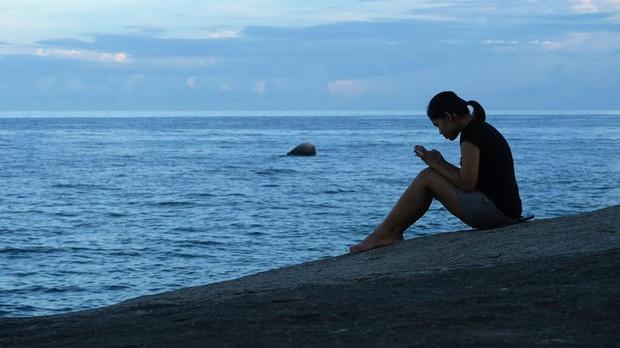 «Momento móvil» en la playa
