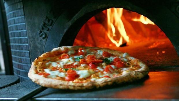 El horno de N.A.P. Neapolitan Authentic Pizza, en Barcelona